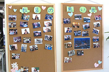 在学中のスナップ写真を展示しています
